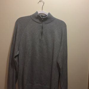 Old Navy light gray collared sweater 1/4 zip